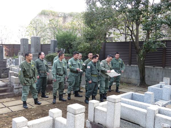 26年2月26日二十二士の墓、墓参