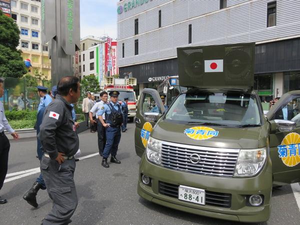 28年6月12日選挙問題、日本共産党演説会阻止活動01