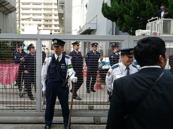 28年10月22日警視庁第六機動隊抗議運動03
